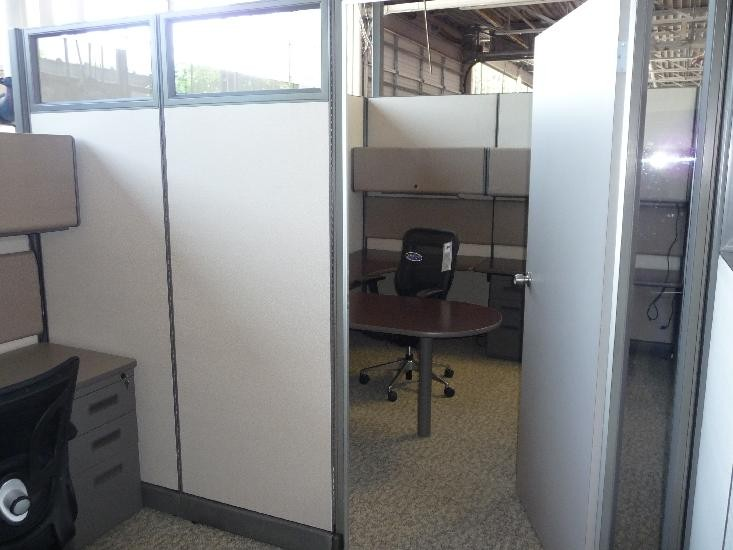 Re fabricated modular office with door office furniture now Office partition walls with doors