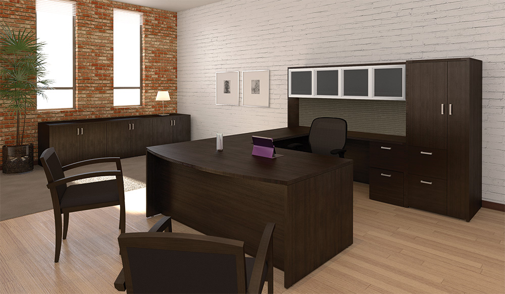 Amber u shaped executive desk office furniture now for Furniture now