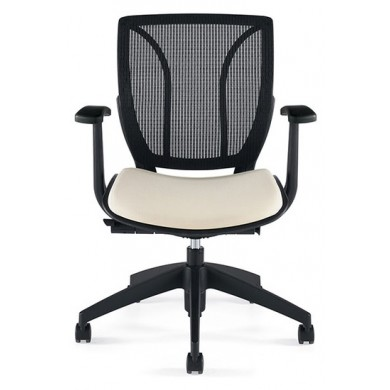Mesh Back Task Chair With Fixed Arms
