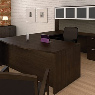 Amber U-Shaped Executive Desk