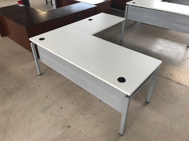 Sold Out L Shape Laminate Desk With Modesty Panel Used