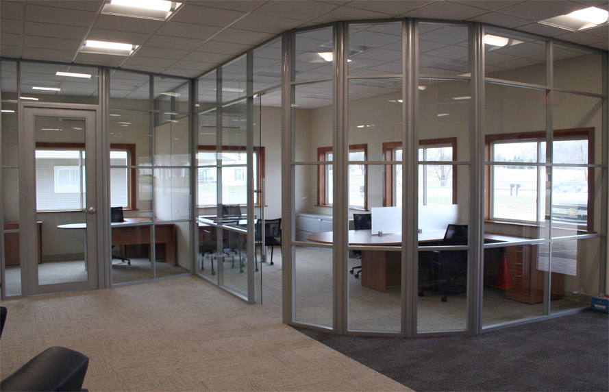 Nxtwall systems office furniture now for Curved glass wall