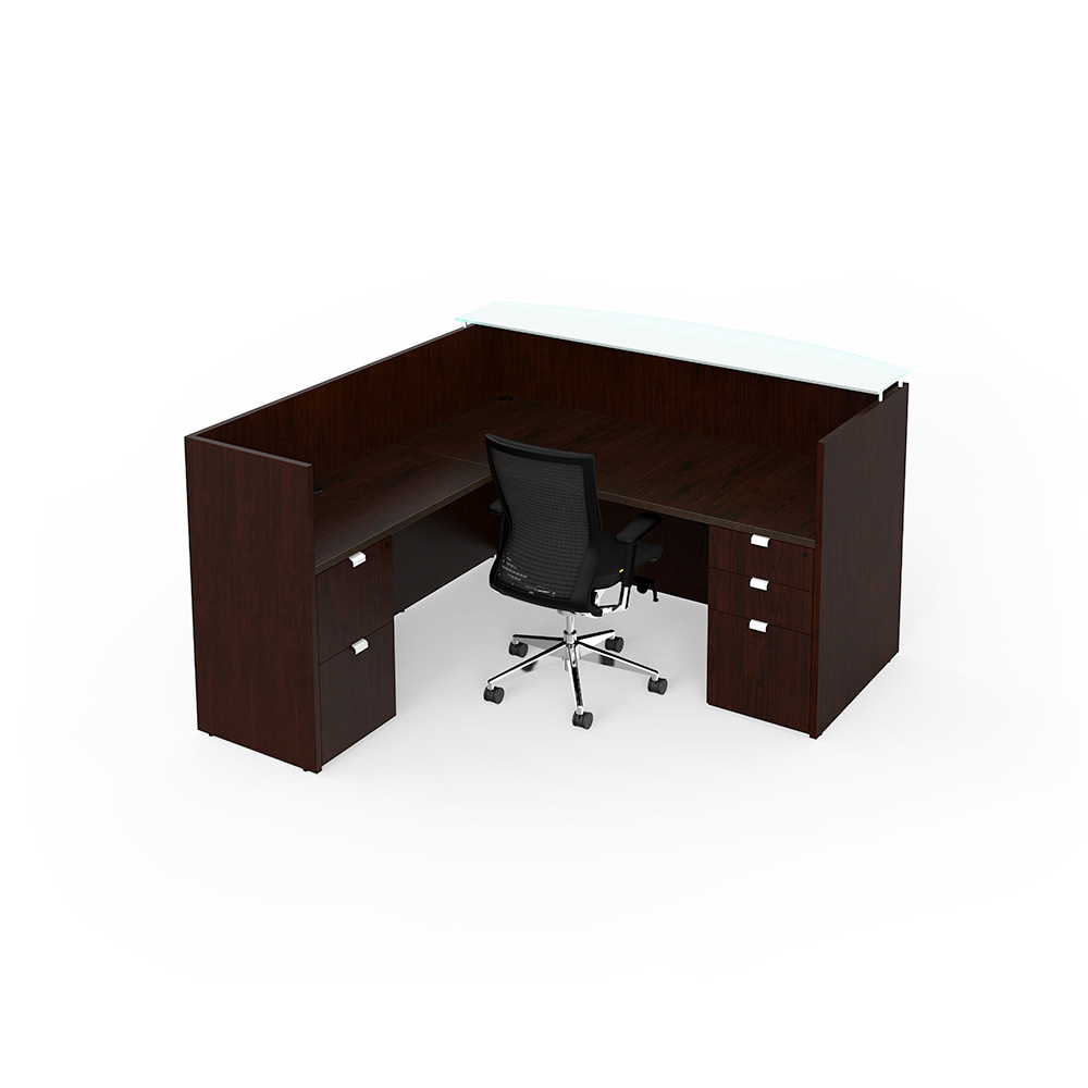 Cherryman jade reception desk new office furniture now for Furniture now