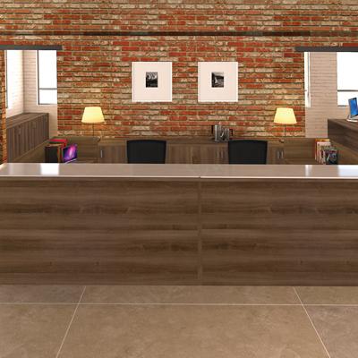 Amber Reception Desk
