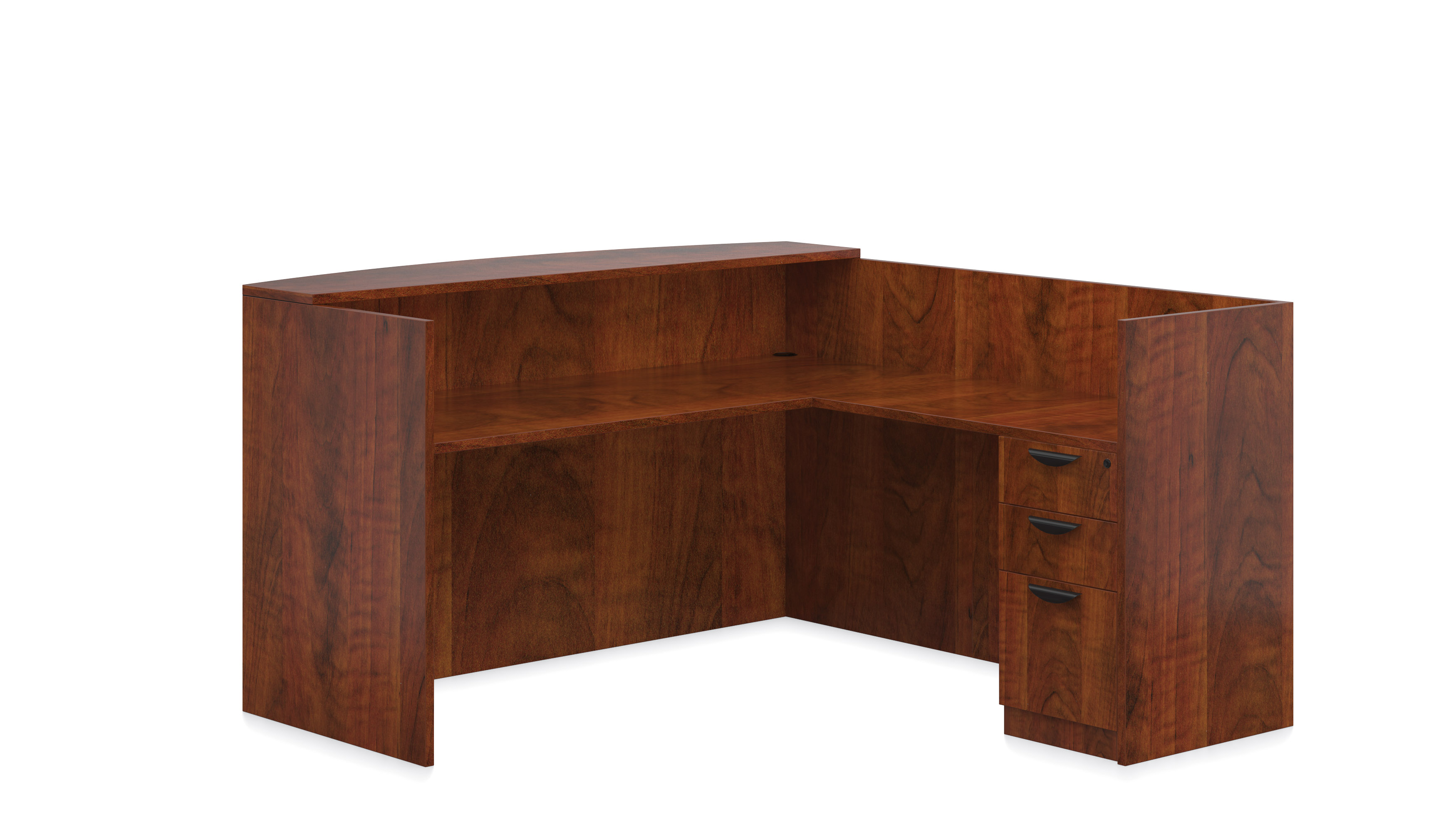 Superior laminate reception desk new office furniture now for Furniture now