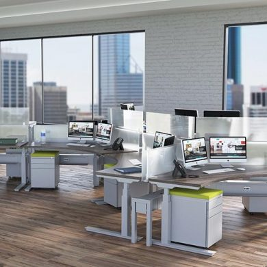 tech sit-stand workspaces