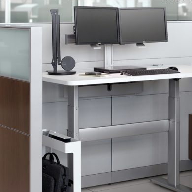 Customer Support Sit-Stand Workspace