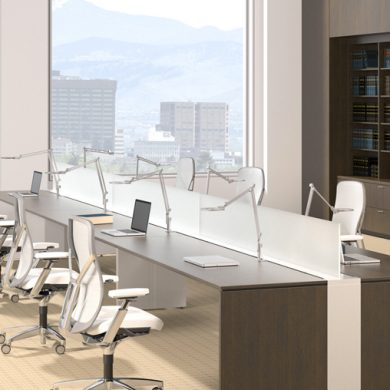 corporate benching workspaces