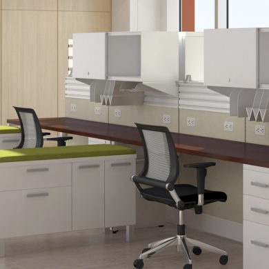 healthcare office workspace