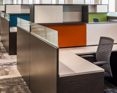 call center cubicle workspaces
